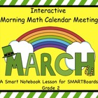 Interactive Morning Math Calendar Meeting SMARTBoard for M