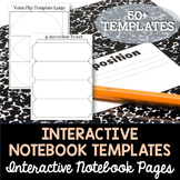 Interactive Notebook (INB) Blank Template Pages