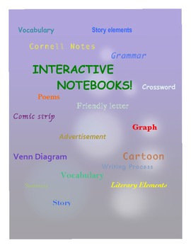 Interactive Notebook Middle School Language Arts Literature