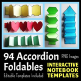 Interactive Notebook Templates - Accordion Pack - 85 Blank