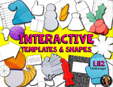Interactive Notebook Templates & Shapes Bundle {Commercial