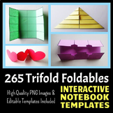 Interactive Notebook Templates - Trifold Pack - 265 Templates