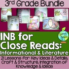 Interactive Notebook for Close Reads Bundle: 3rd Grade FRE