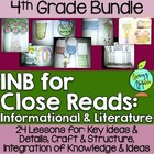Interactive Notebook for Close Reads Bundle: 4th Grade
