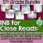 Interactive Notebook for Close Reads Bundle: 5th Grade