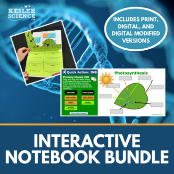 Science Interactive Notebooks Bundle - Includes all 7 of my Best-Selling INB's