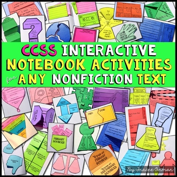 Interactive Reading Notebook Nonfiction Bundle Common Core Aligned