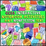 Interactive Reading Notebook Nonfiction Bundle Common Core