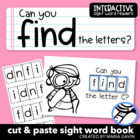 "Interactive Sight Word Reader ""Can You FIND the Letters?"""