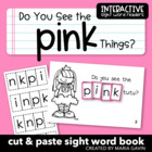 "Interactive Sight Word Reader ""Do You See the PINK Things?"""