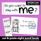 "Interactive Sight Word Reader ""Do You Want to Play with ME?"""