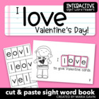 "Interactive Sight Word Reader ""I LOVE Valentine's Day!"""