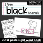 "Interactive Sight Word Reader ""I See BLACK Animals"""