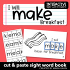 "Interactive Sight Word Reader ""I Will MAKE Breakfast"""