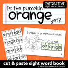 "Interactive Sight Word Reader ""Is the Pumpkin ORANGE Yet?"""