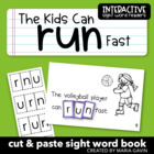 "Interactive Sight Word Reader ""The Kids Can RUN Fast"""