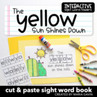 "Interactive Sight Word Reader ""The YELLOW Sun Shines Down"""