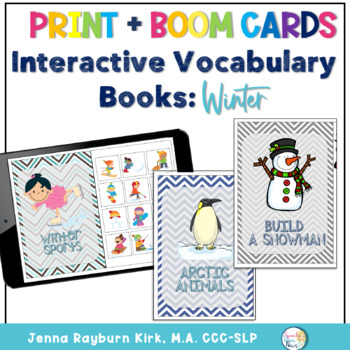 Interactive Vocabulary Books: Winter