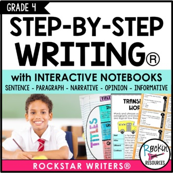 Interactive Writing Notebook Grade 4 with ALL Common Core Writing Standards