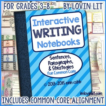 Interactive Writing Notebooks ~ Sentences & Paragraphs for Common Core 3-8