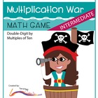 Intermediate Multiplication War-A Game of Double-Digit by