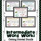 Word Work Getting Started Intermediate BUNDLE