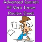 Intermediate/Advanced Spanish All Verb Tenses Review Sheet