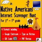 Internet Scavenger Hunt - Intermediate Grades - Native Americans