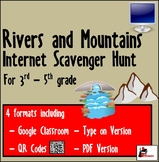 Internet Scavenger Hunt - Intermediate Grades - Rivers & M