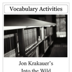 Into the Wild by Jon Kraukauer Vocabulary Unit Plan