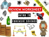 Intro to Forensic Science Review Worksheet and Answer Key