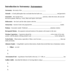 Introduction to Astronomy Notes