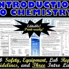Introduction to Chemistry: Lab Safety, Equipment, and Thre
