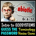 Introduction to Ecosystems - Guess the Password Terminolog