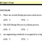 Introduction to Engineering Design Unit 1 ExamView Test Bank