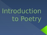 Introduction to Poetry Analysis - student notes and guided