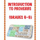 Introduction to Proverbs (Grades 6-9)