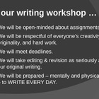Introduction to Writing Workshop