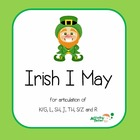 Irish I May Articulation Game for R, S/Z, L, TH, SH, J, K/G