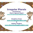Irregular Plural Nouns- Monkey Theme