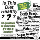 """Is This Diet Healthy?"" Lesson: Analyze and Recognize Unhe"