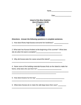 Island of Blue Dolphins Essay Examples