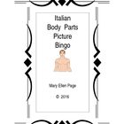 Italian Body Parts Picture Bingo and Word Find puzzle