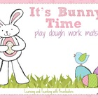 It's Bunny Time play dough work mats