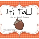 It's Fall! Literacy & Math Centers