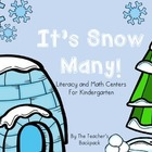 It's Snow Many! Literacy and Math Activities for Kindergarten