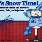 It's Snow Time! A Differentiated Learning Game (Nouns, Ver