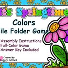 It's Springtime Colors File Folder Game