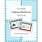 "It's Winter! ""Compound Sentences"" Literacy Task Cards"