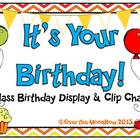 It's Your Birthday! Display & Clip Chart – Multi-Pattern Rainbow